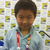 Perry Chen with Troma buttons at Comic-Con