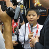 Perry Chen being interviewed at Comic-Con